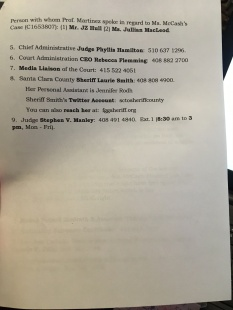 CALLING CAMPAIGN NUMBERS FOR ILLEGALLY INCARCERATED MOTHER OF THREE, PG 2